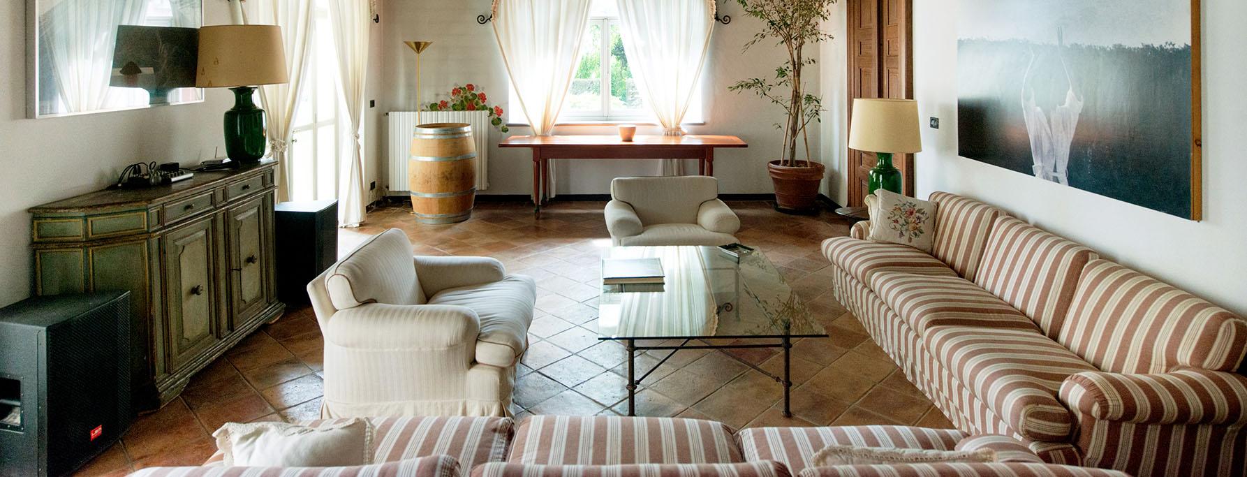 La suite matrimoniale per gli sposi di Villa Fiorita.